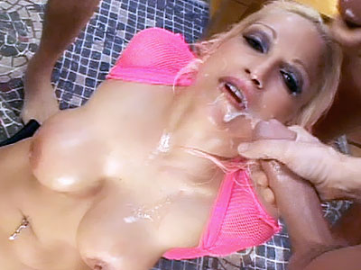 Hot Blonde Showered seclude Cum