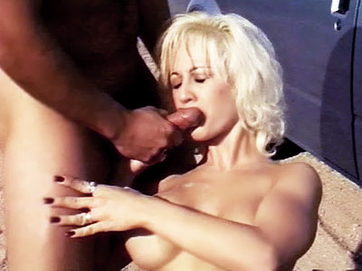 hot Blonde Nina Roadside Sex